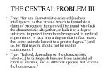 the central problem iii