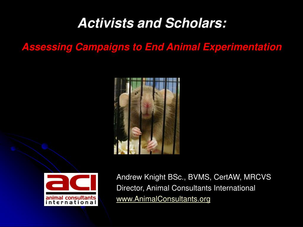 activists and scholars assessing campaigns to end animal experimentation l.