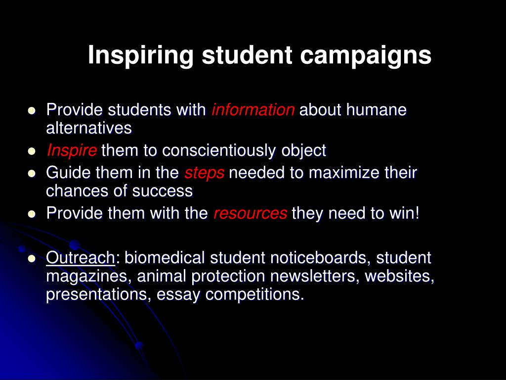 Inspiring student campaigns