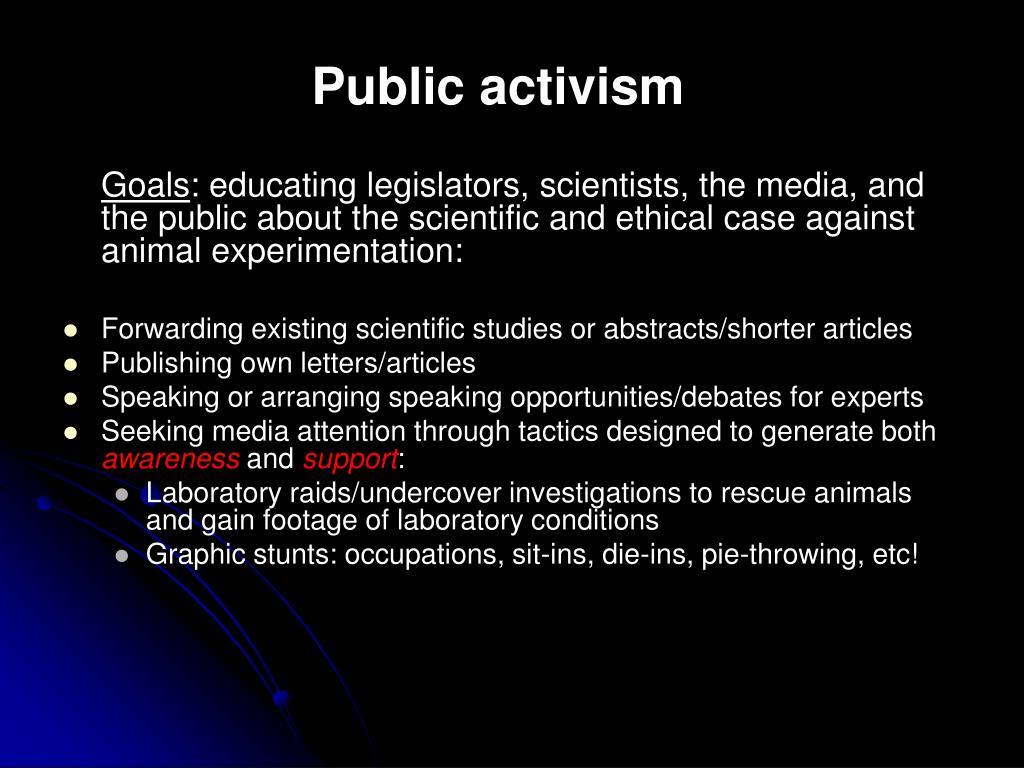 Public activism