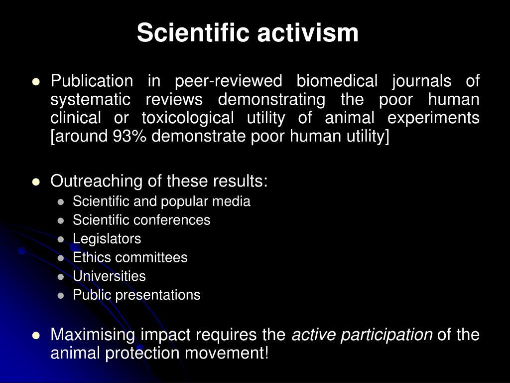 Scientific activism