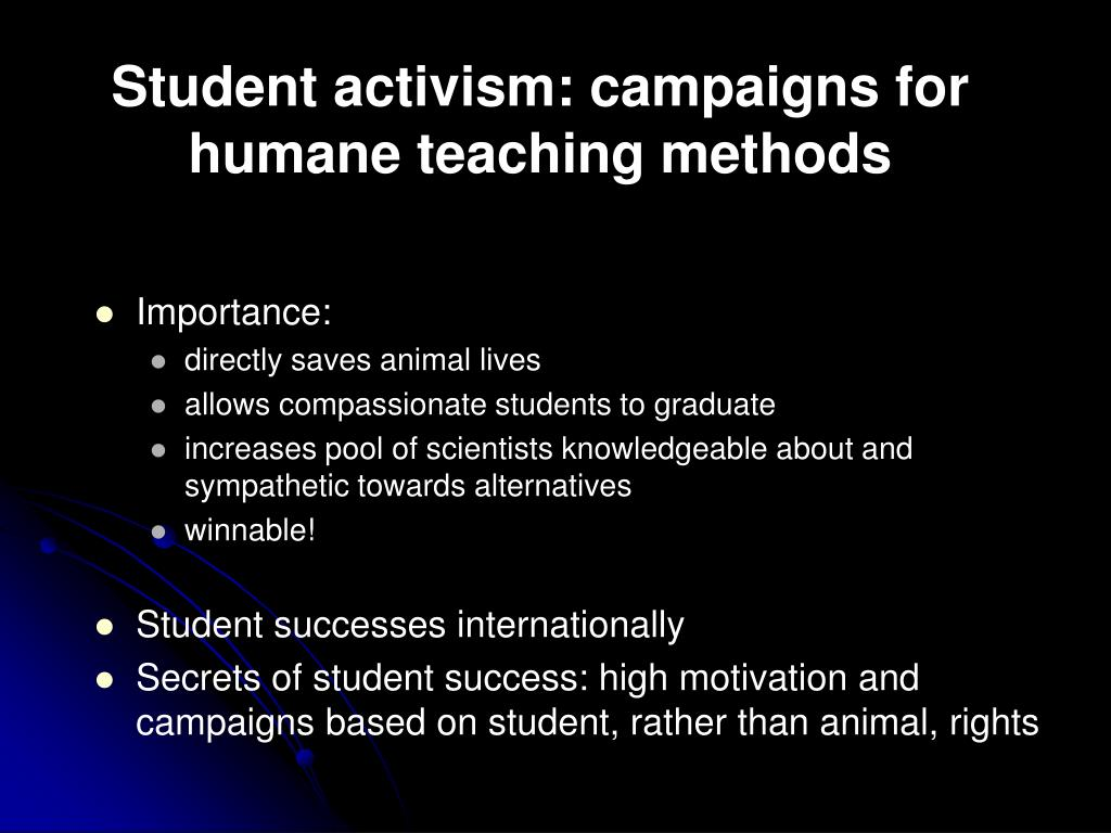 Student activism: campaigns for