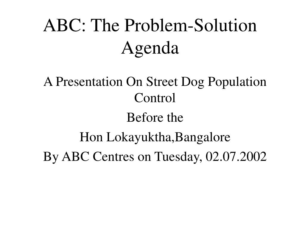 abc the problem solution agenda l.