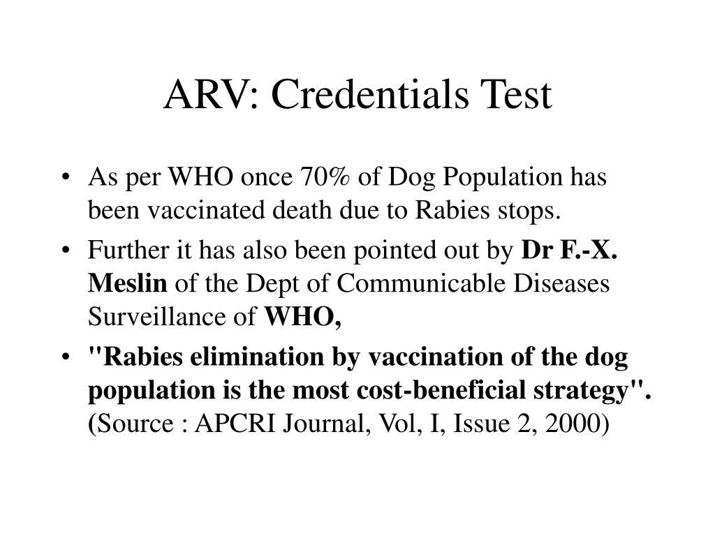 ARV: Credentials Test