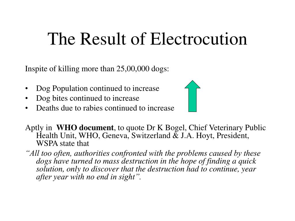 The Result of Electrocution