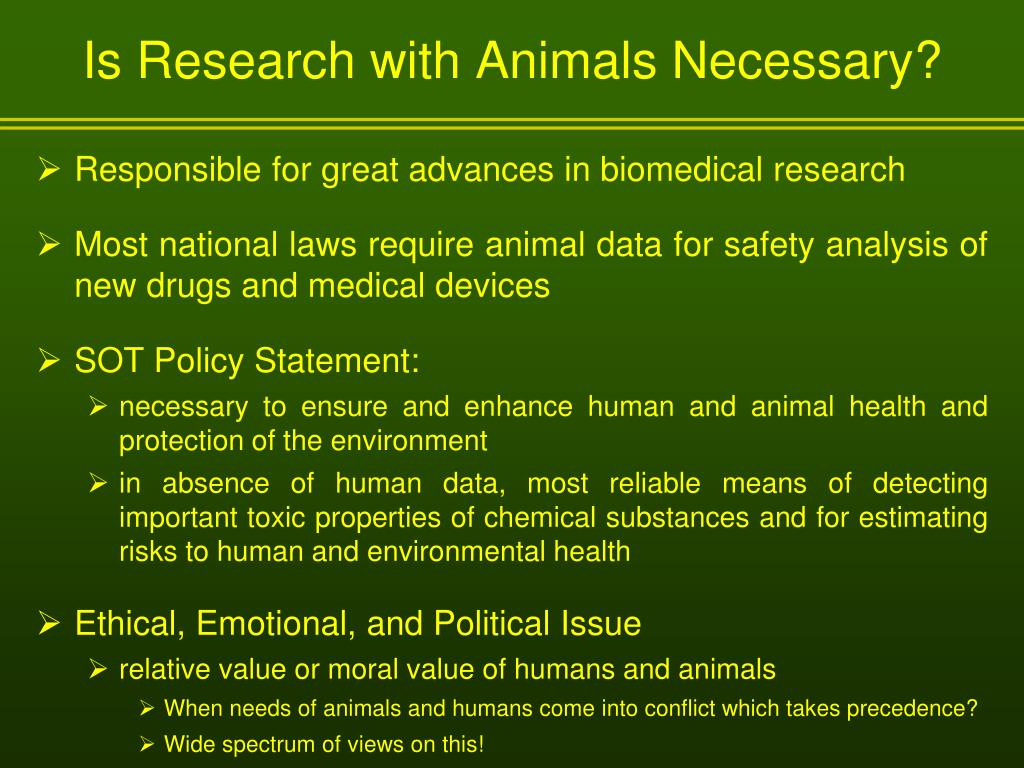 Is Research with Animals Necessary?