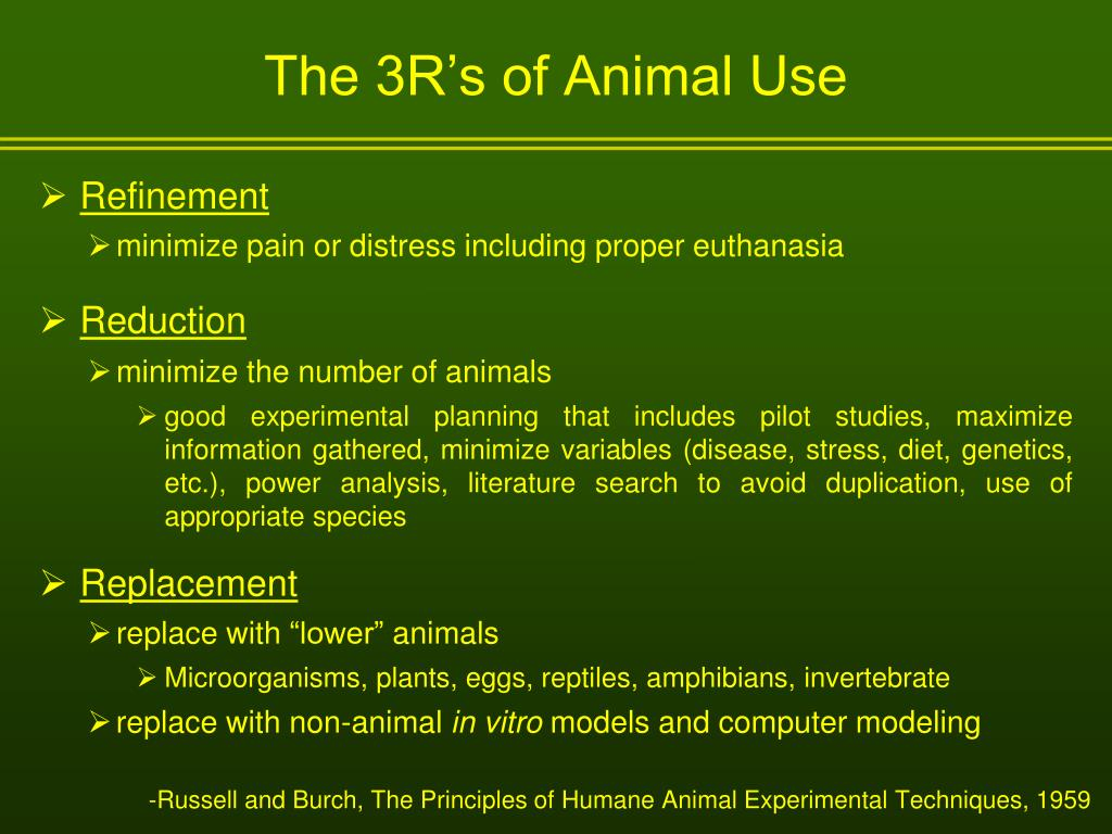 The 3R's of Animal Use