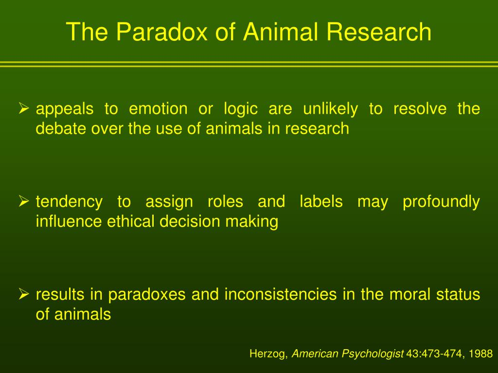 The Paradox of Animal Research