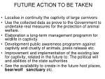 future action to be taken