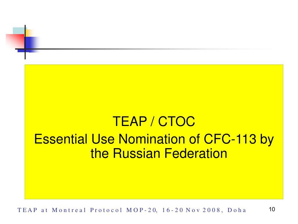 TEAP / CTOC