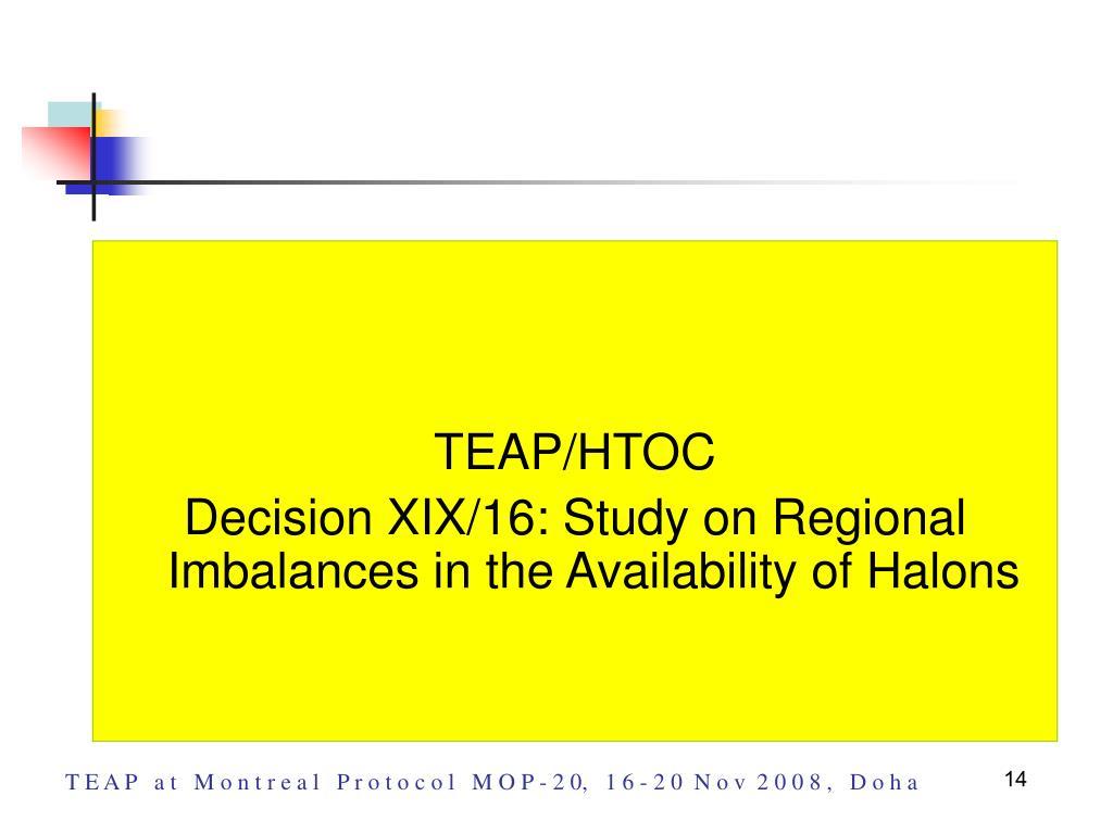 TEAP/HTOC