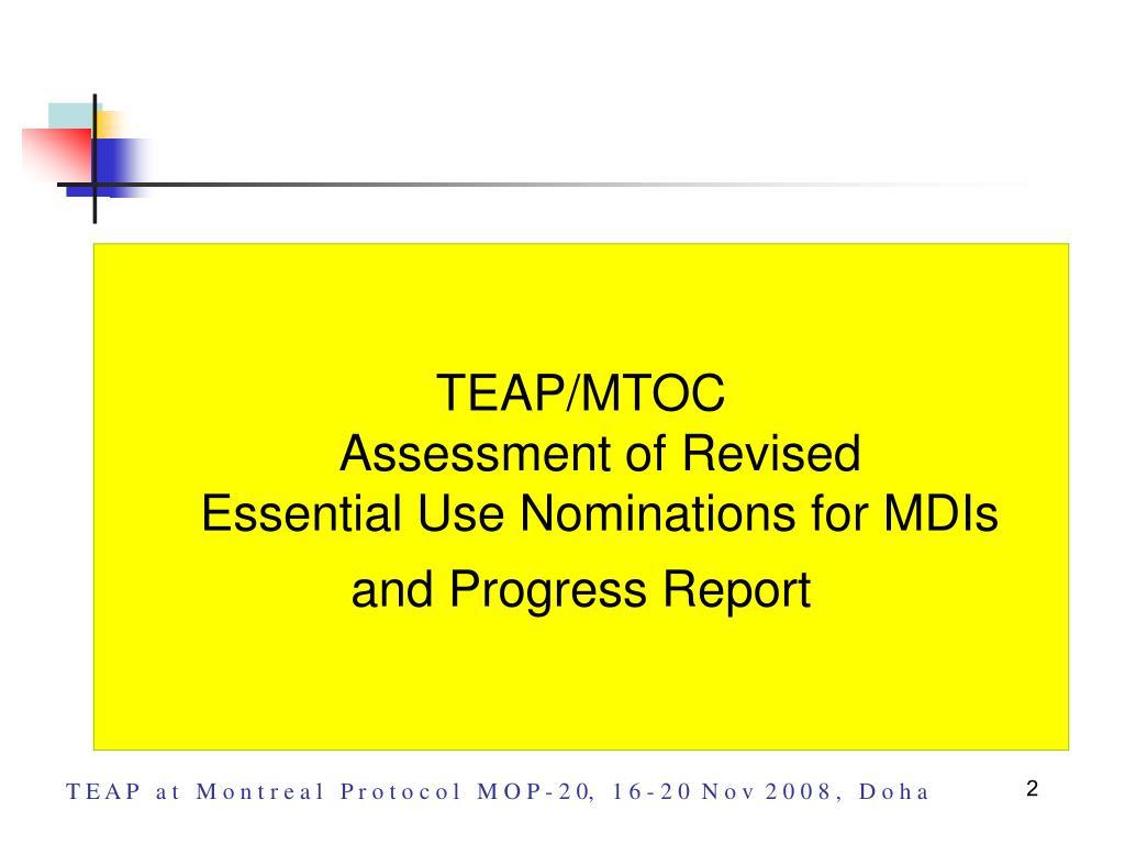 TEAP/MTOC