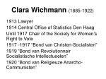 clara wichmann 1885 1922