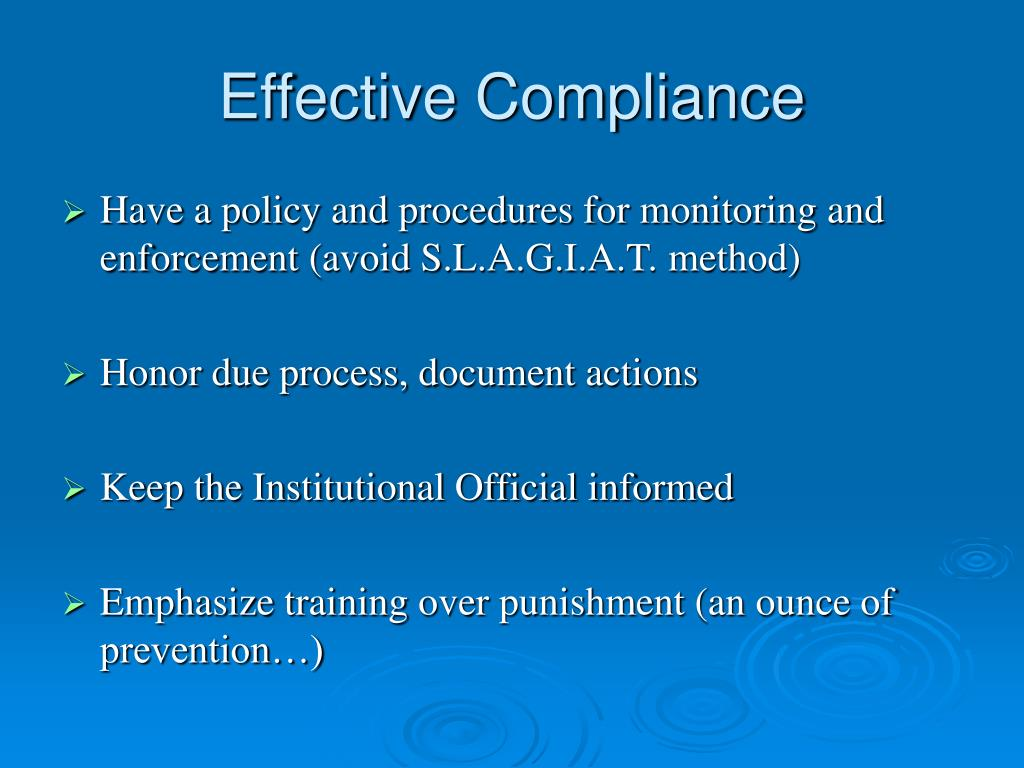 Effective Compliance