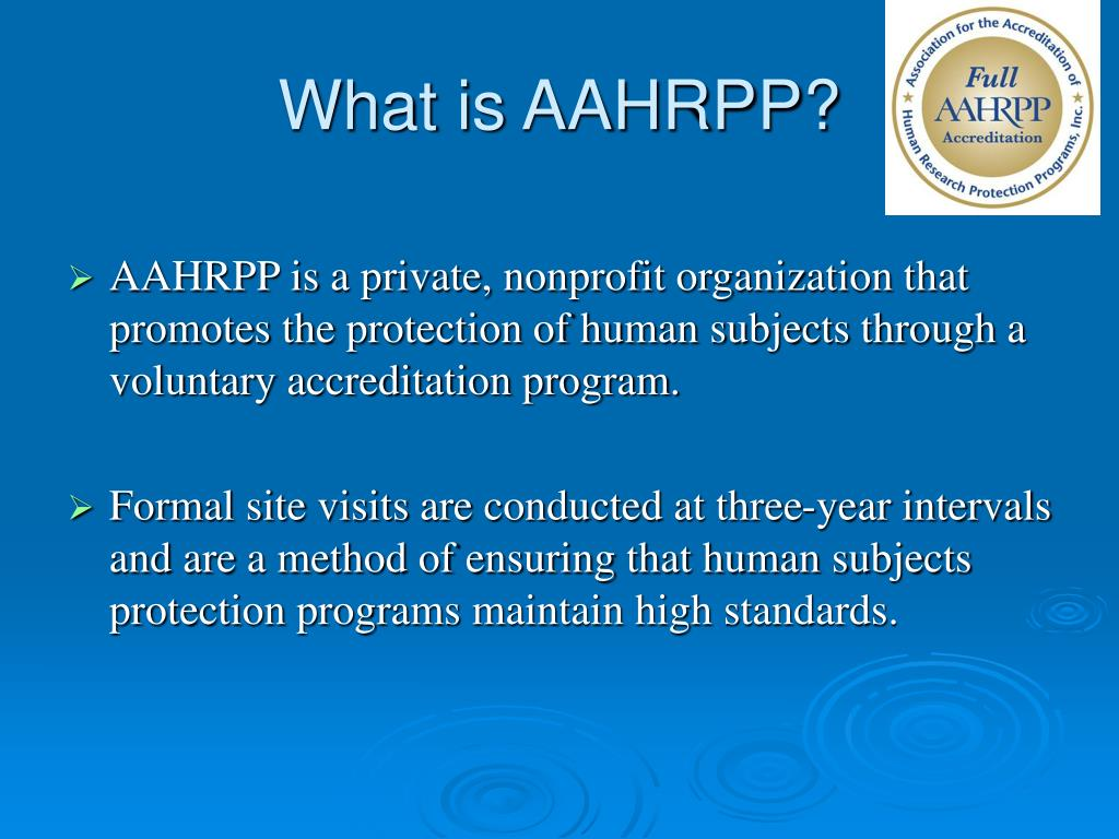 What is AAHRPP?