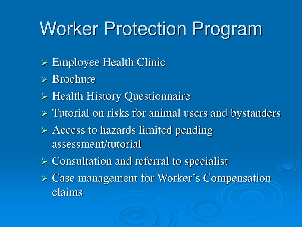 Worker Protection Program