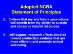 adopted ncba statement of principles14