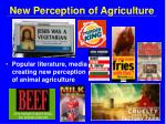 new perception of agriculture