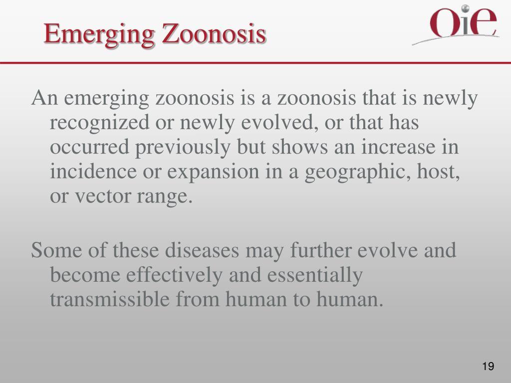 Emerging Zoonosis
