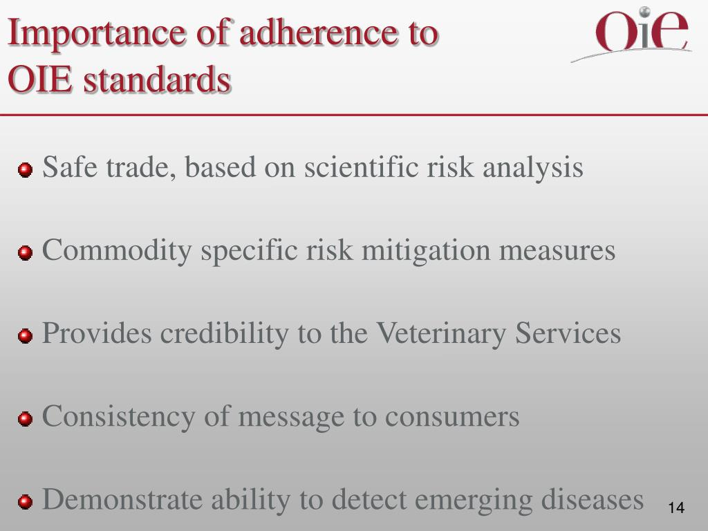 Importance of adherence to