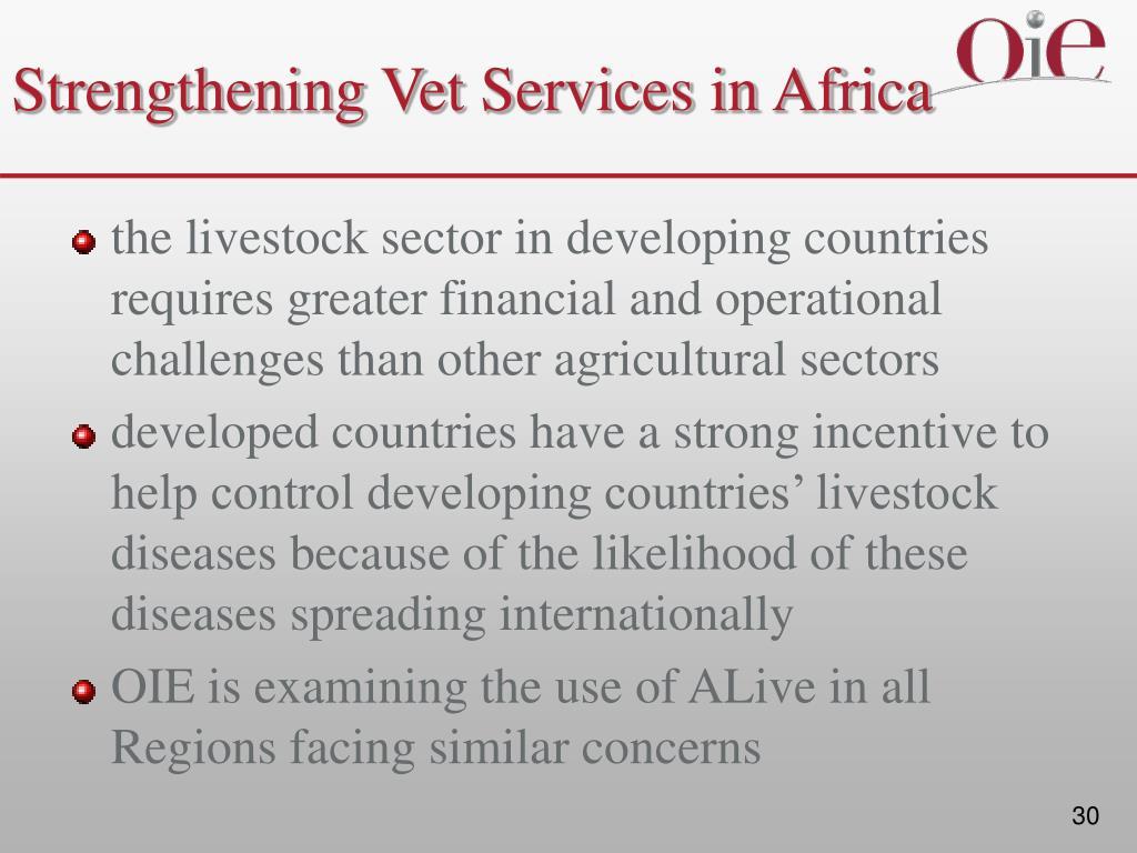 Strengthening Vet Services in Africa