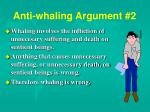 anti whaling argument 2
