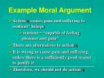 example moral argument