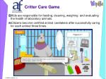 critter care game12