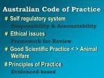 australian code of practice