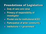 foundations of legislation