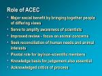 role of acec