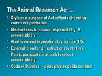 the animal research act