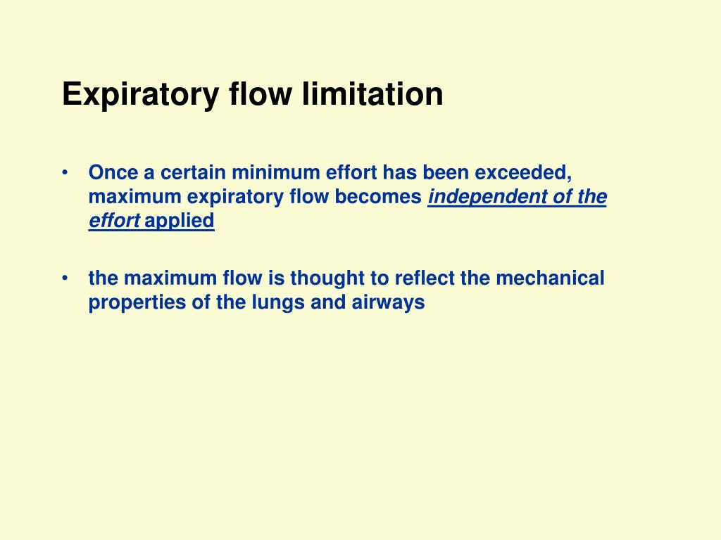 Expiratory flow limitation