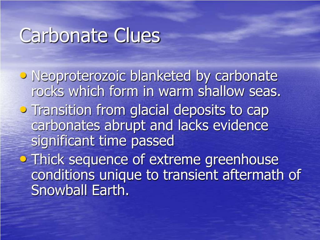 Carbonate Clues