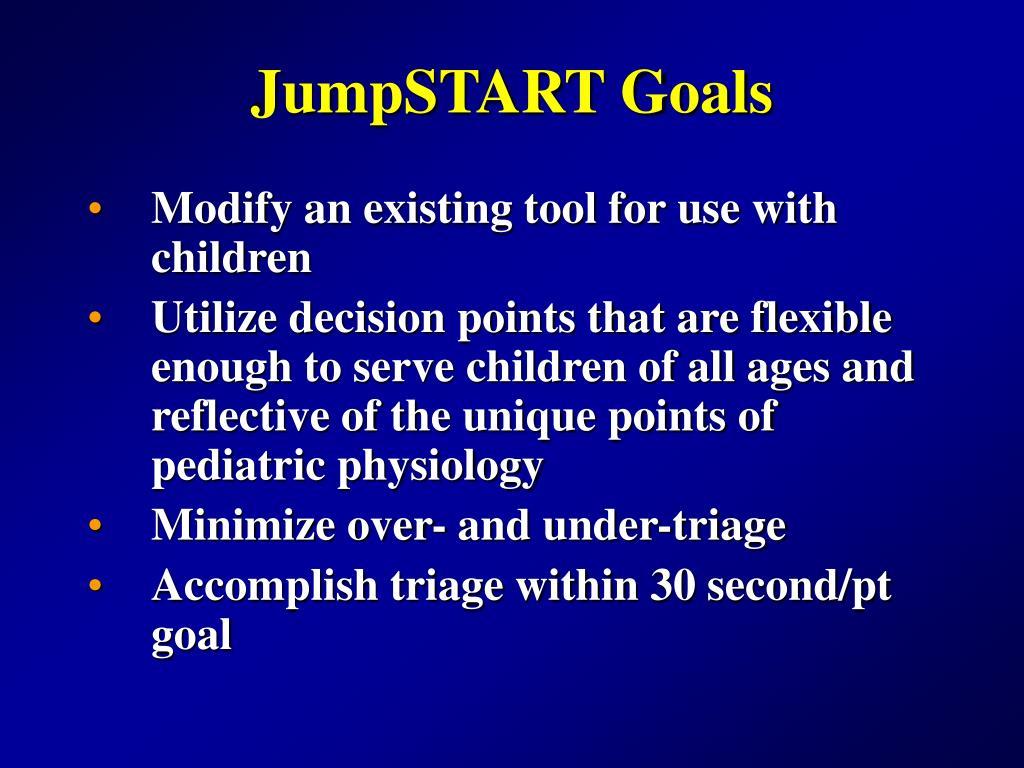 JumpSTART Goals