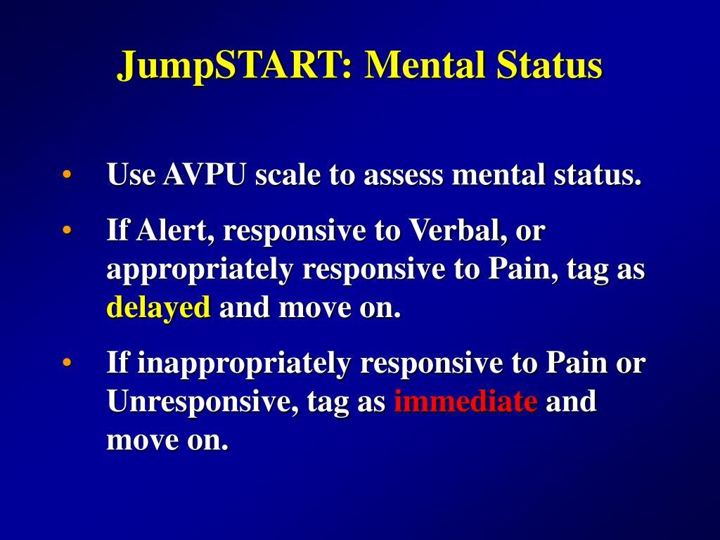 JumpSTART: Mental Status