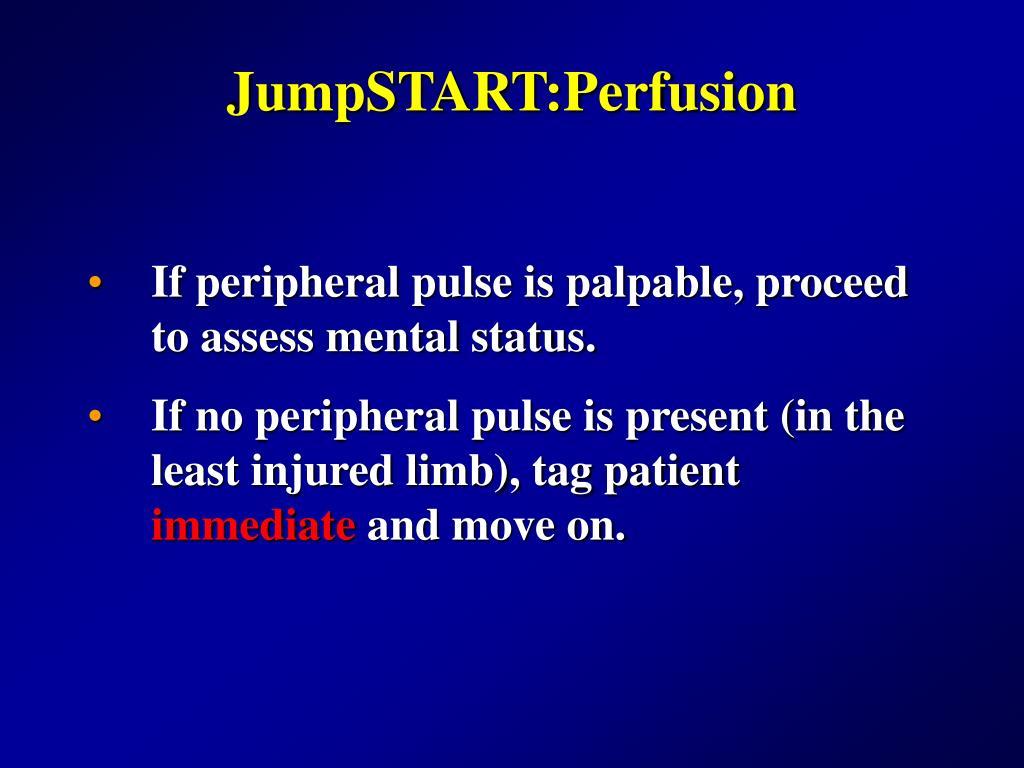 JumpSTART:Perfusion
