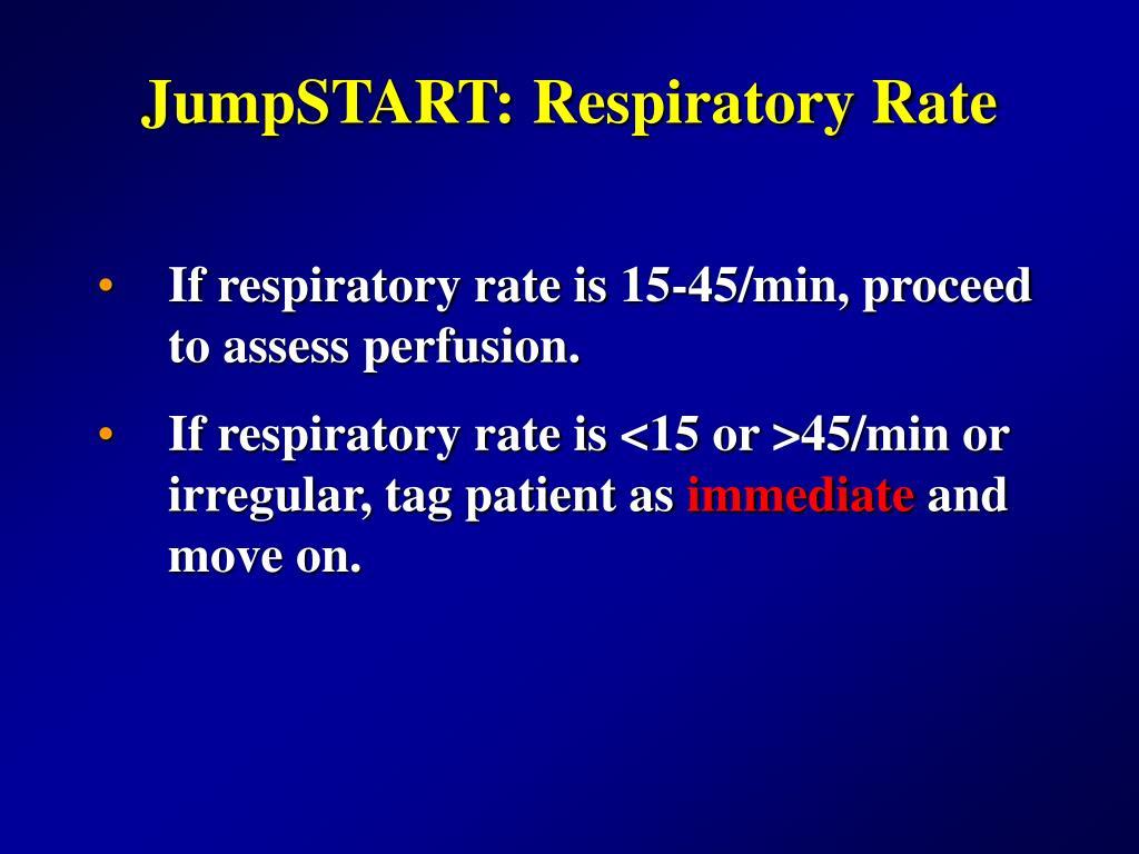 JumpSTART: Respiratory Rate