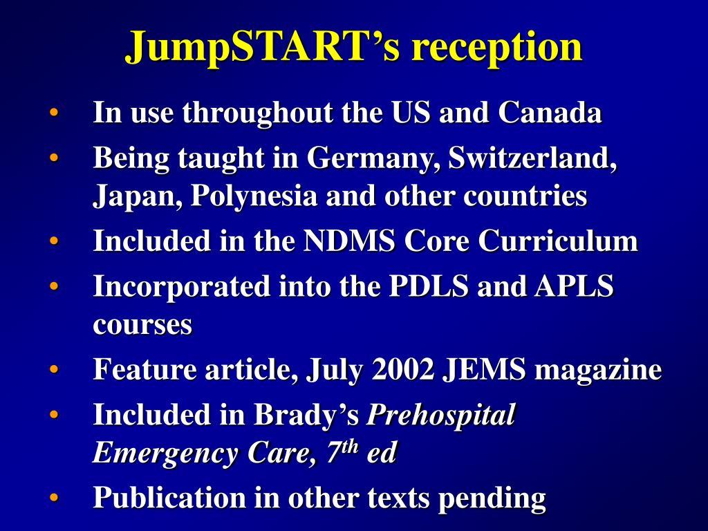 JumpSTART's reception