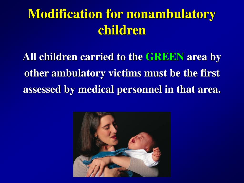 Modification for nonambulatory children