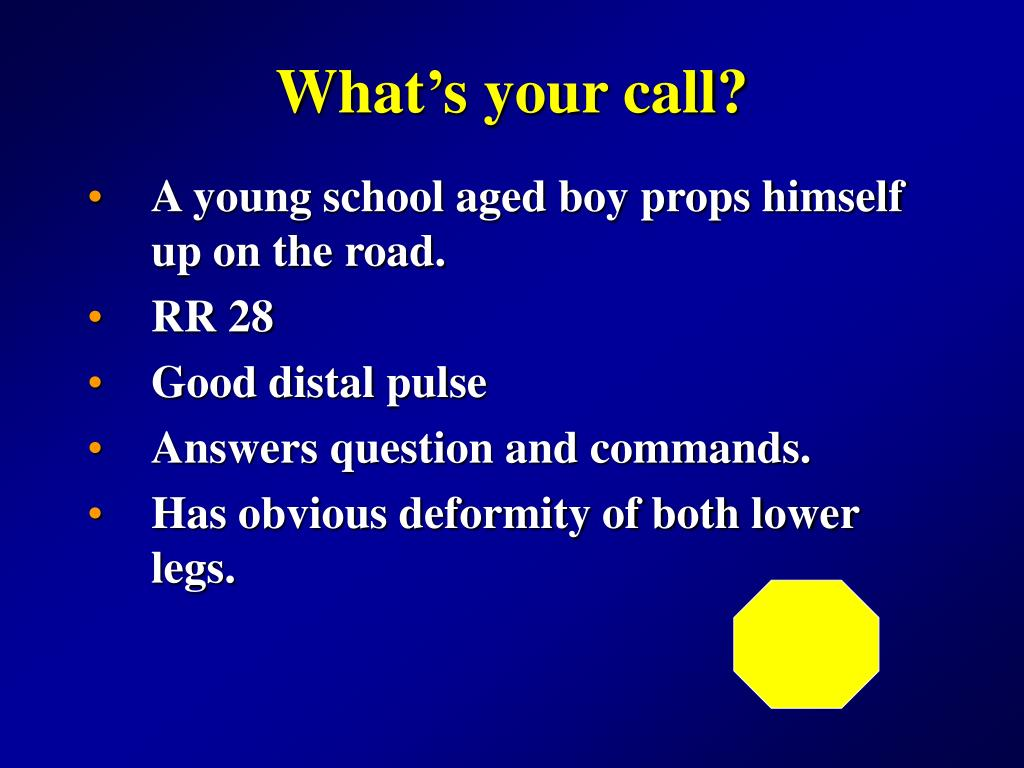 What's your call?