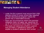 managing student attendance17