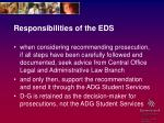 responsibilities of the eds10
