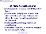 5 state securities laws