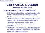 case 37 3 u s v o hagan outsiders and rule 10b 534