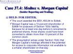 case 37 4 medtox v morgan capital insider reporting and trading36
