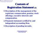 contents of registration statement 2