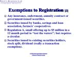 exemptions to registration 2