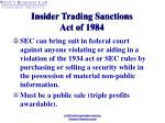 insider trading sanctions act of 1984