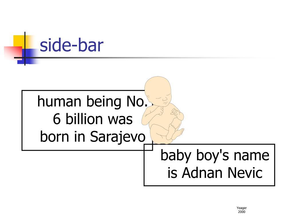 human being No. 6 billion was born in Sarajevo